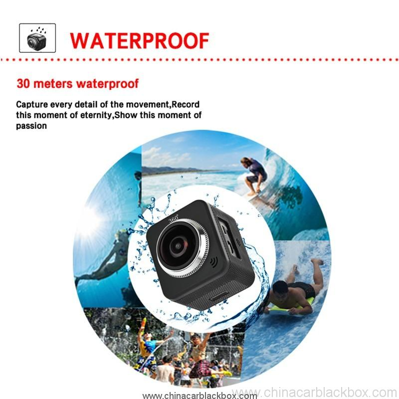 Waterproof full hd 1080p sport camera 210 degree wide lens 6